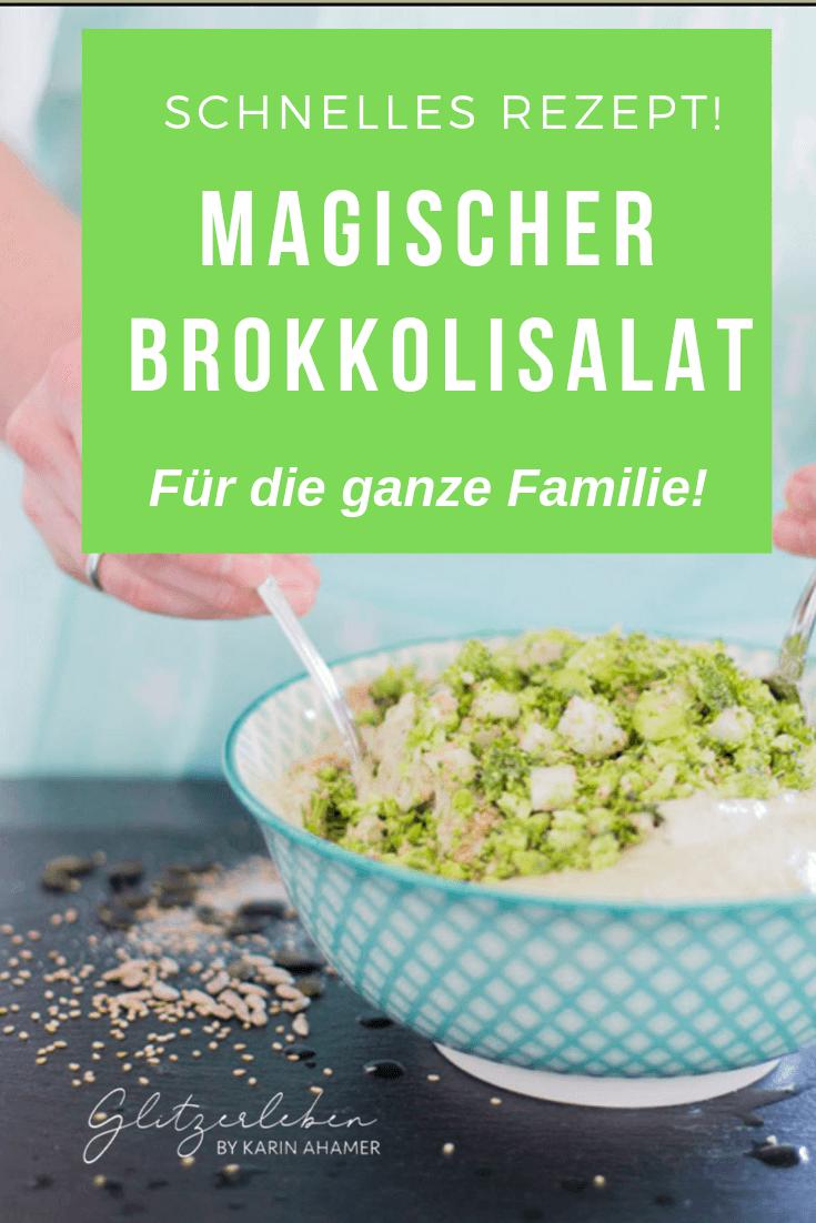 Rezept gesunder Salat mit Brokkoli und Stangensellerie